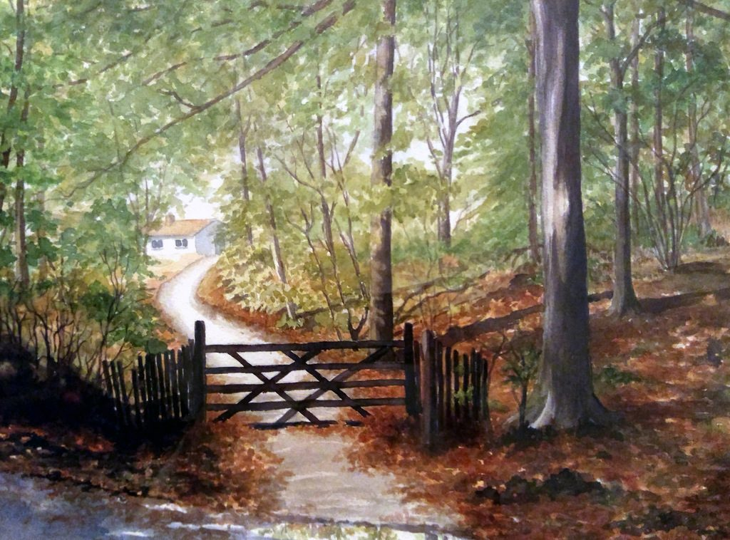 Shires Artists Carol Kemp Lisa's Wood - Watercolour