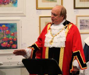 Mayor, Councillor David Marren opens the Cheshire Civil War Centre at Nantwich Museum.
