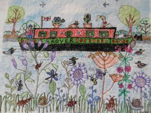 """Jenny Ridell's entry for Threadmill's """"Castles and Roses"""" exhibition at Nantwich Museum"""