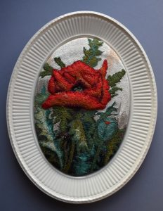 "Ruth Smith's entry for Threadmill's ""Castles and Roses"" exhibition at Nantwich Museum"