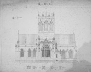 Architects Drawing of Nantwich Church