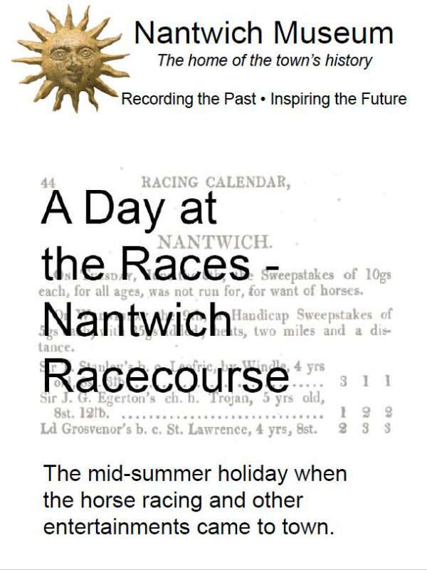 Cover of A Day at the Races, - a leaflet about Nantwich racecourse