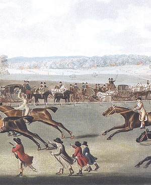 A typical 18th century race meeting