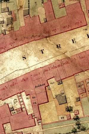 Beam Street Nantwich Map from 1851