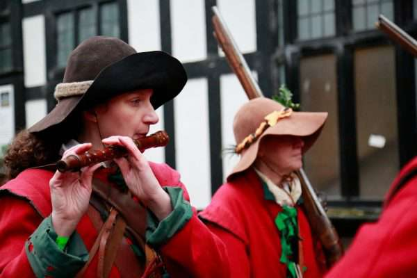 Members of the Sealed Knot re-enacting the Battle of Nantwich