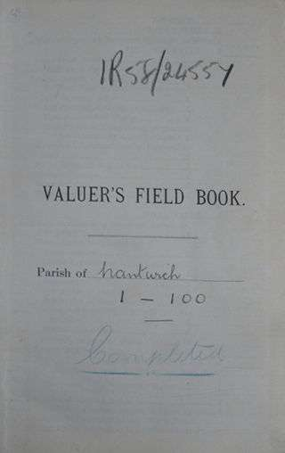Valuers Field Book
