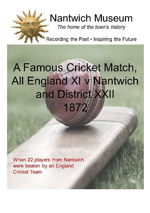 A Famous Cricket Match All England v Nantwich Cover
