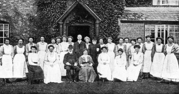 Miss Forster R P Ward Roger Bait and staff