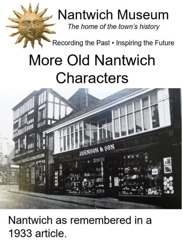 Cover of More Old Nantwich Characters booklet