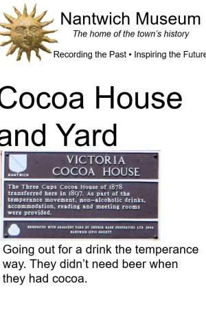 Cover of booklet about the Cocoa House and Yard in Nantwich