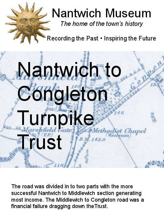 Cover to Nantwich to Congleton Turnpike Trust
