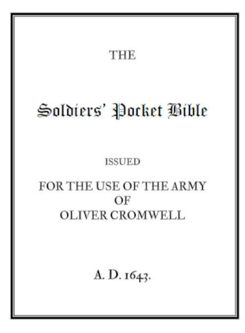 Cover to The Solidiers' Pocket Bible