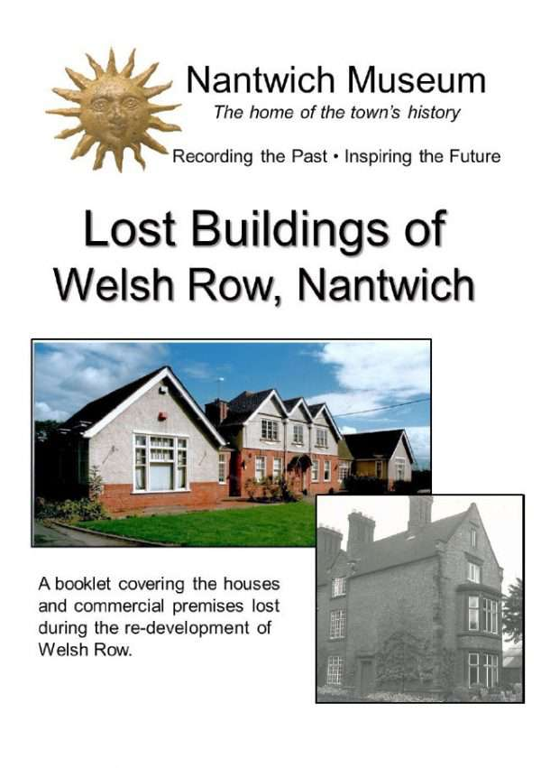 Cover of Lost Buildings of Welsh Row, Nantwich, booklet