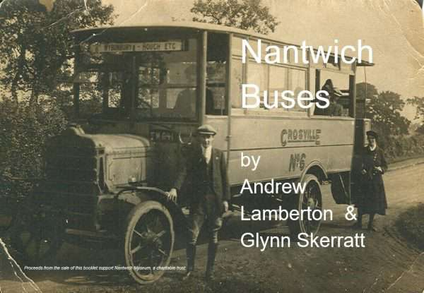 Cover of booklet about Nantwich Buses