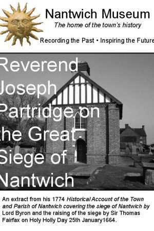 Cover of booklet on Reverend Joseph Partridge on the Great Siege of Nantwich