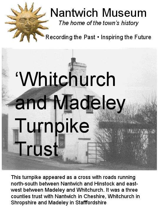 Cover to Whitchurch and Madeley Turnpike Trust booklet