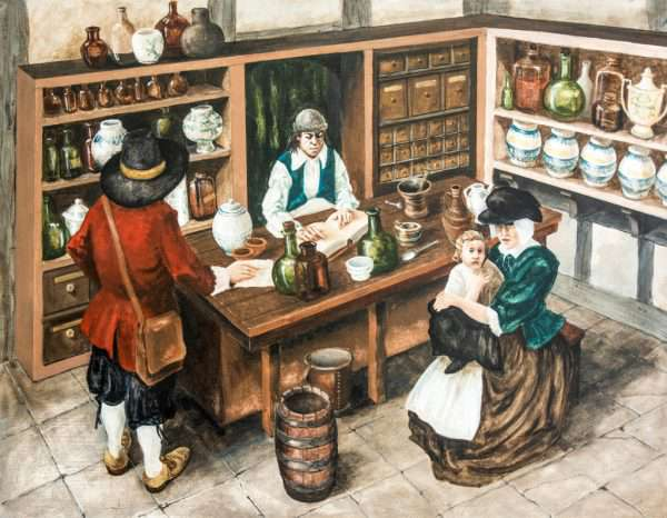 Nantwich Apothecary Shop by Les Pickford